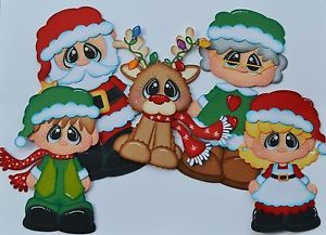 paper piecing christmas | Details about Christmas Paper Piecing Lot, Santa, Elves, Reindeer, for ...