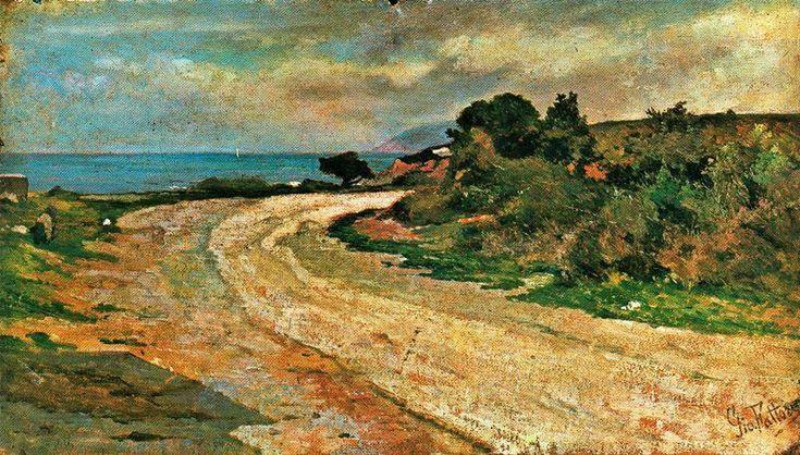 Giovanni-Fattori-Road-by-the-sea.