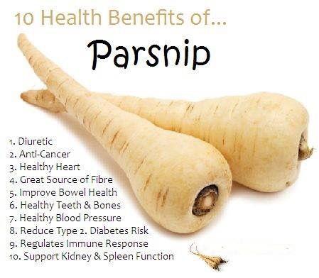 Health benefits of parsnips