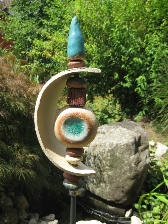 Keramikstele In Different Colours Turquoise Or Red Or Brown Or Blue