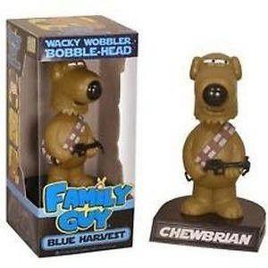 Family Guy Blue Harvest Star Wars Chewbrian Wacky Wobbler NIB Brian Dog FUNKO