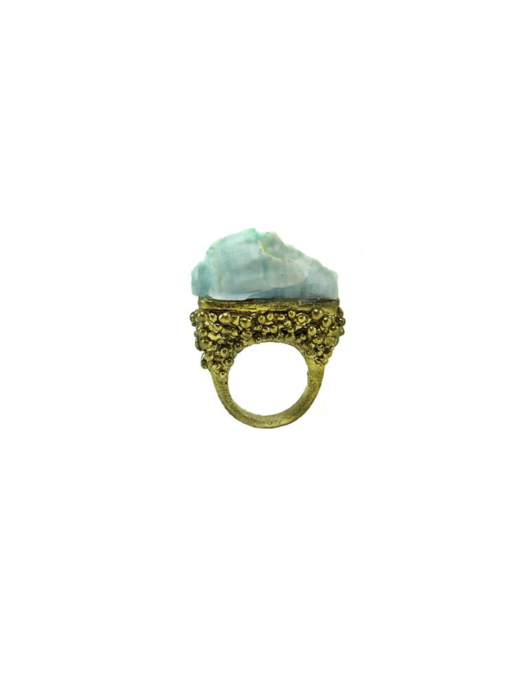 ARIADNE  Ring  Collection : Knossos  Materials : Brass and oxidized silver 925.  Year : 2015 QUEEN PASIPHAE  Ring  Collection : Knossos  Materials : Aragonite and brass  Year : 2015