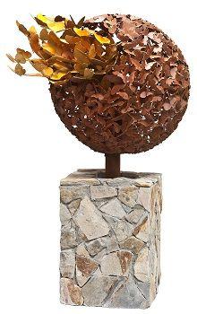Outdoor Decor :: Freestanding Decorative Sculpture :: Butterfly Evolution Rust Outdor Garden Sculpture -
