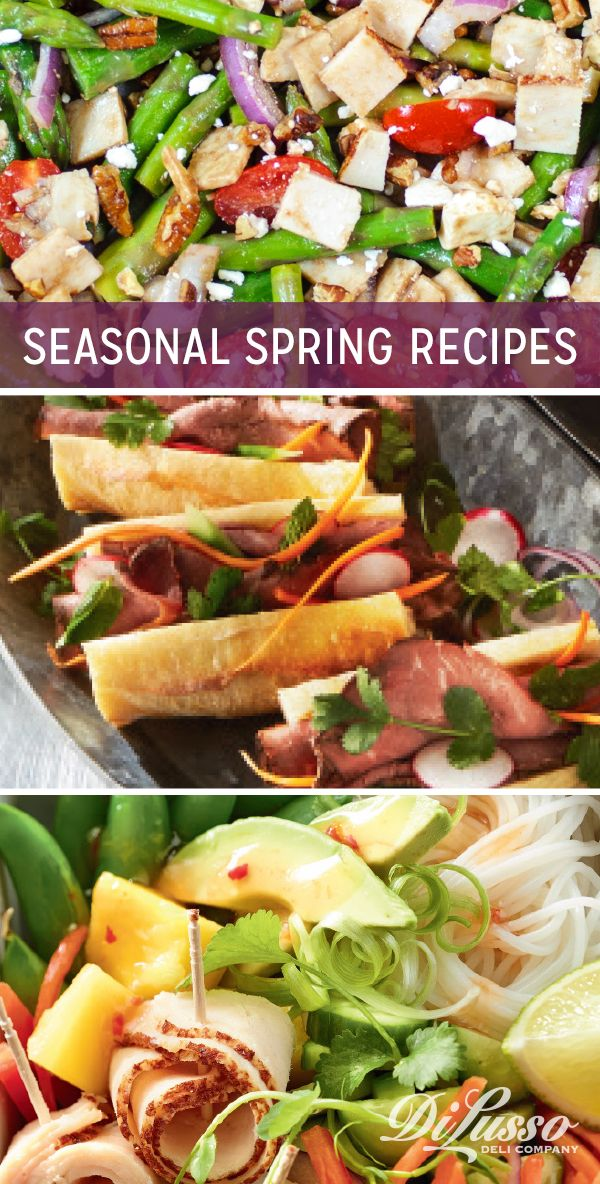 See some of our favorite recipes featuring spring produce like asparagus, radishes and sugar snap peas. Asparagus, Feta and Chicken Salad I Vietnamese Banh Mi Sandwich I Mango Turkey Salad Bowl