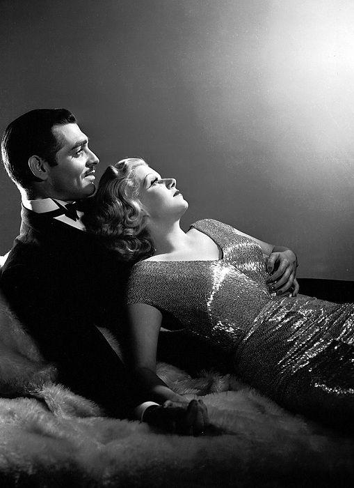 Актеры Кларк Гейбл и Джин Харлоу. Кадр из к/ф «Красная пыль», 1932 год.