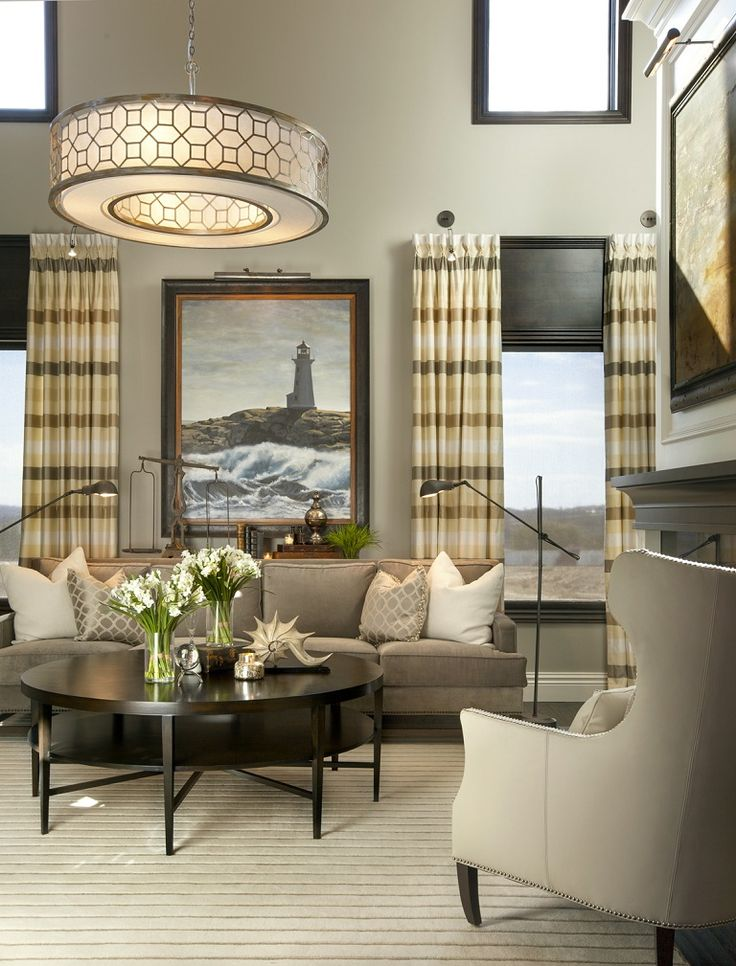 Hamptons Inspired Luxury Home Living Room Robeson