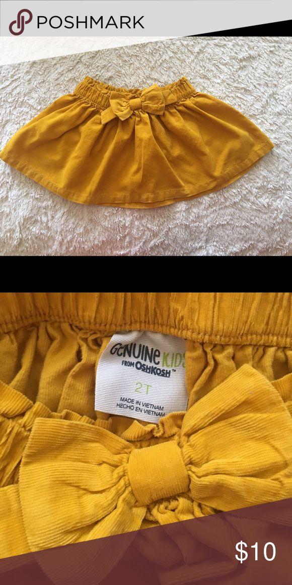 Mustard yellow skirt children's toddler size 2T Mustard yellow toddler skirt genuine kids target brand 2T bow Bottoms Skirts