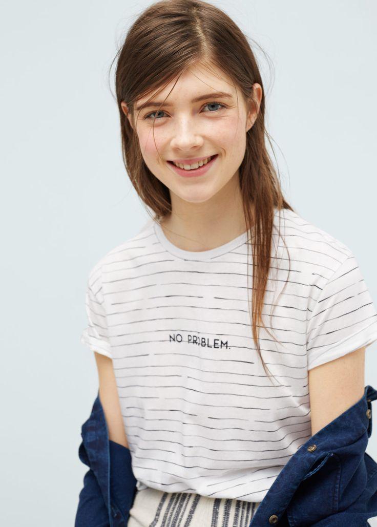 T-shirt coton modal - T-shirts pour Femme | MANGO France