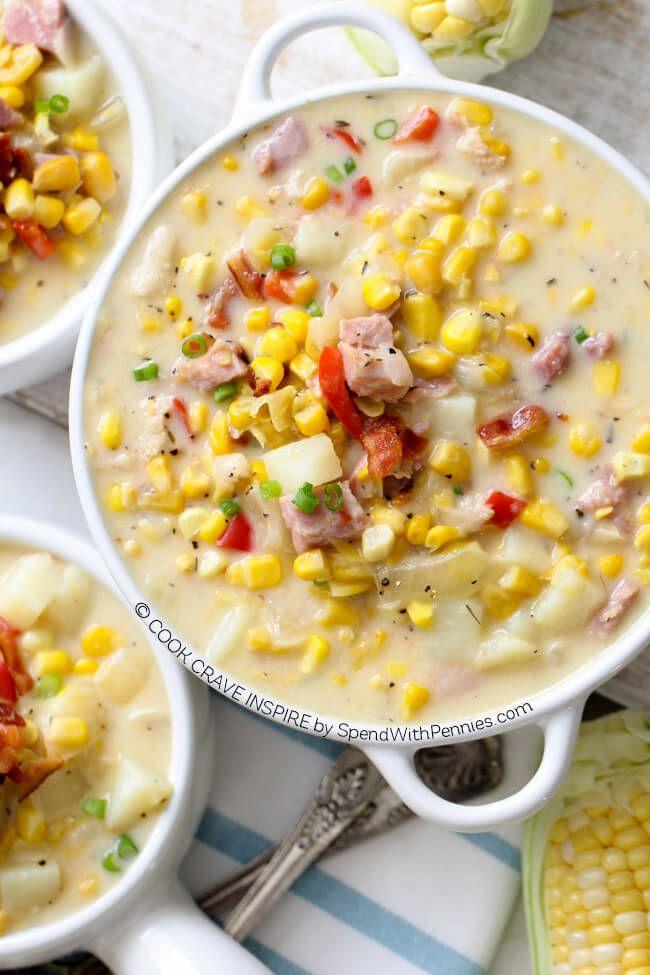 How do you make corn chowder?