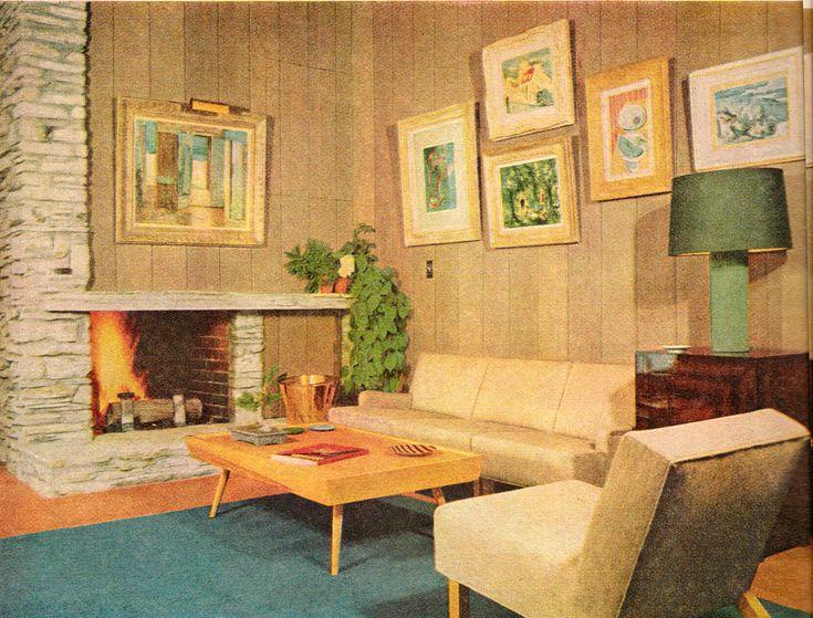 1954 mid century modern living room #retrohome #retrofurniture #retrorenovation http://www.retrorealtygroup.com