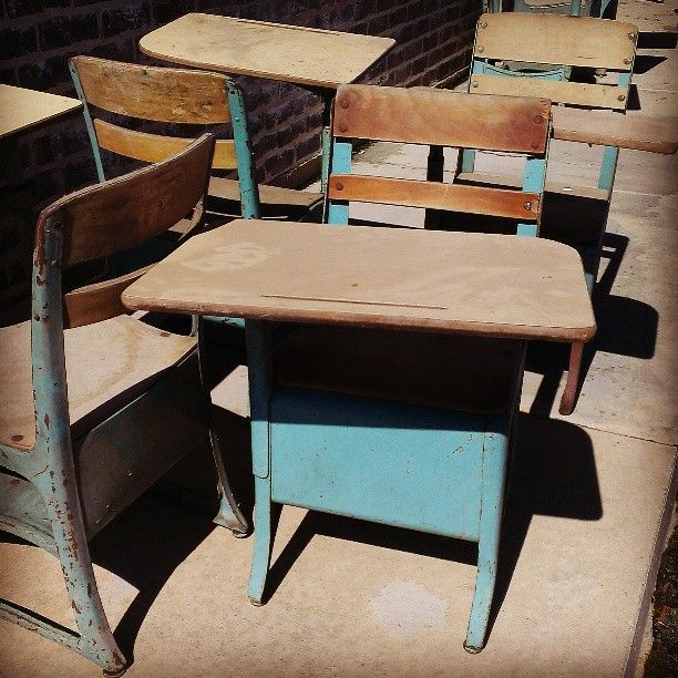 Paris, TX Vintage School Desks #hometown #smailltown #paristexas