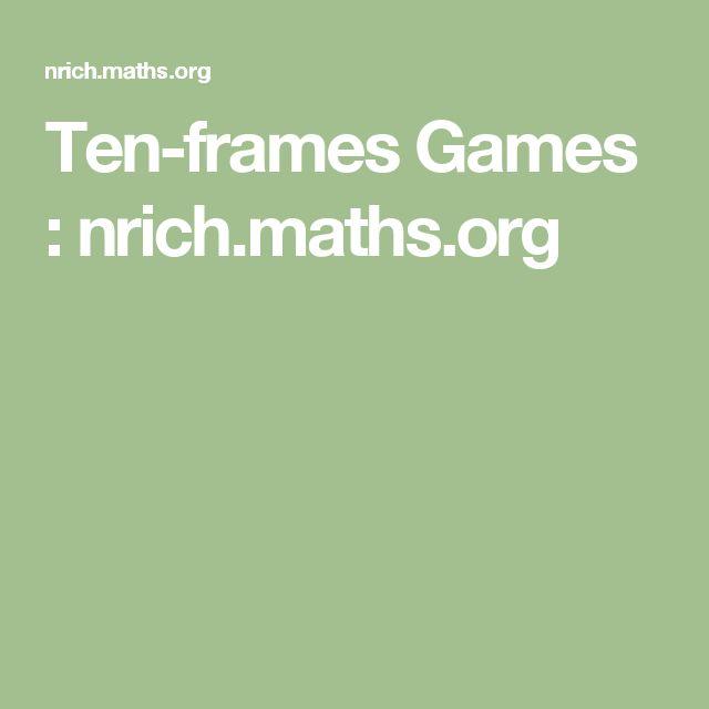 Ten-frames Games : nrich.maths.org