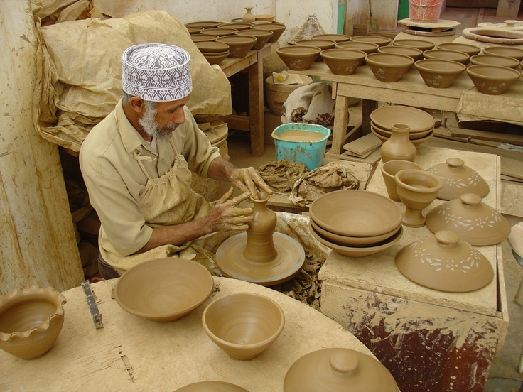 A traditional potter in Oman
