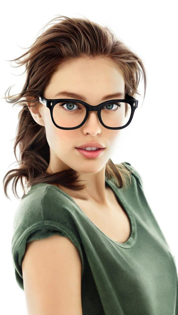 quot Emily Didonato quot    Nedko  contemporary figurative realism artist beautiful female head eyeglasses woman face portrait  hyperreal digital painting  loveart  vannenov deviantart com