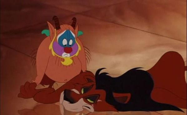 the lion from hercules is scar
