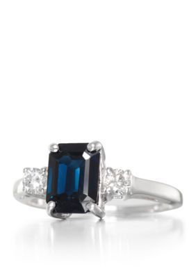 Belk  Co.  Sapphire and Diamond Ring in 14k White Gold