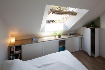 Placard sous pente sur mesure Paris, Nantes, Vannes, Lorient : meuble sous pente