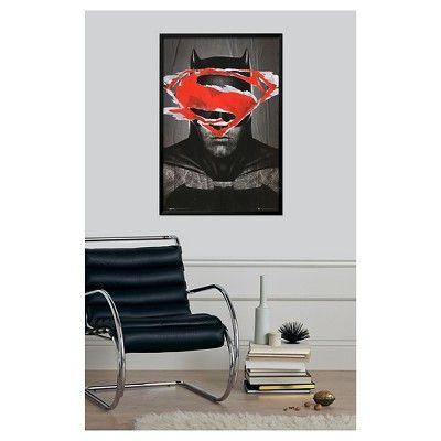 Batman Vs Superman Batman Teaser, Thin Black Wood Framed Poster