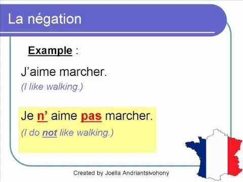 how to make a sentence negative in french