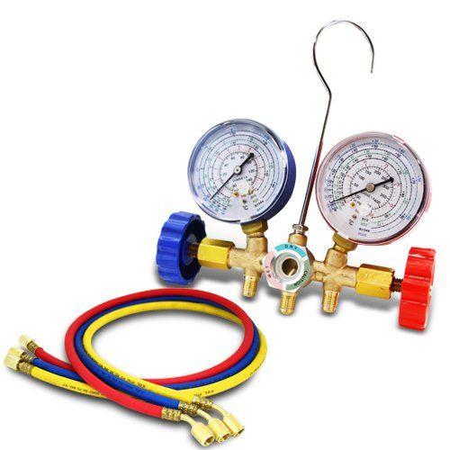 XtremepowerUS R12 R22 R134A R502 A/C Air Conditioning Ac Refrigerant Manifold-Gauge Set...