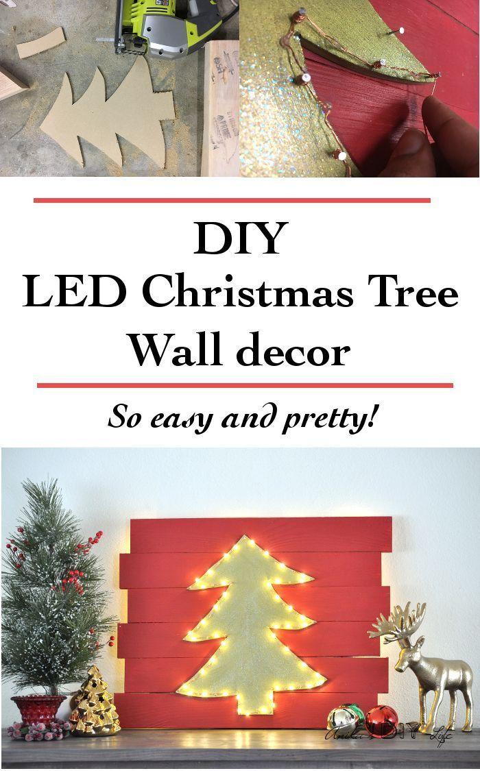 Led christmas tree decoration - Diy Led Christmas Tree Wall Decor