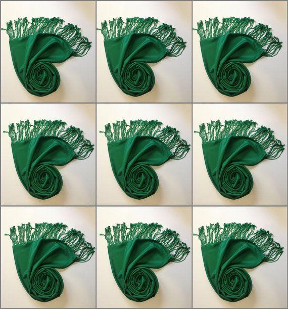 9 GREEN PASHMINA pashmina set 9 pashmina shawl by weddingstore