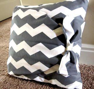 No-sew pillow tutorial.