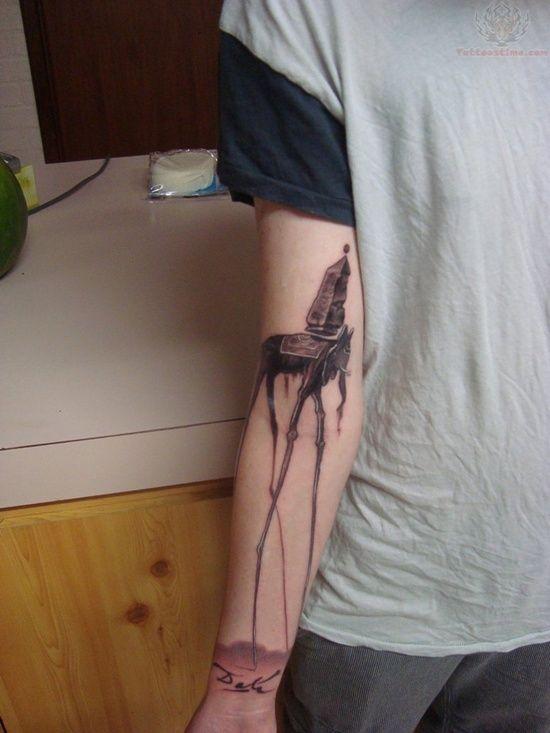 salvador dali tattoo (4)