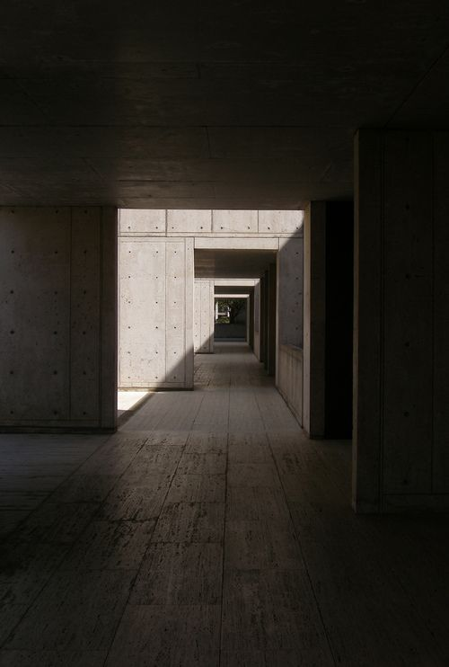 Visions of an Industrial Age // onsomething:    onsomething    Louis Kahn | Salk Institute for biological studies, 1965 La Jolla