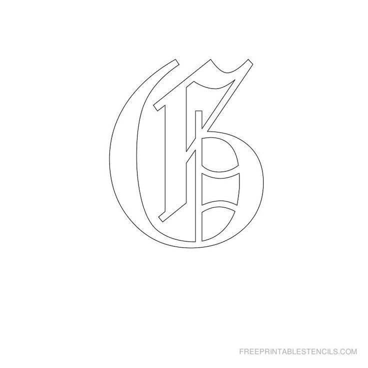 Printable Old English Alphabet Stencil G
