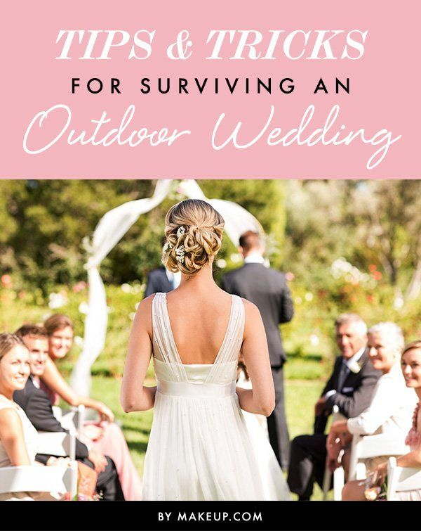 Yes, outdoor summer weddings are gorg! But, beware, the heat may take a toll on your hair and makeup!