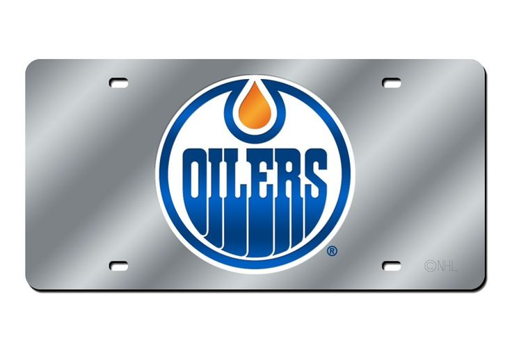Edmonton Oilers Laser Etched License Plate/Tag (Silver)