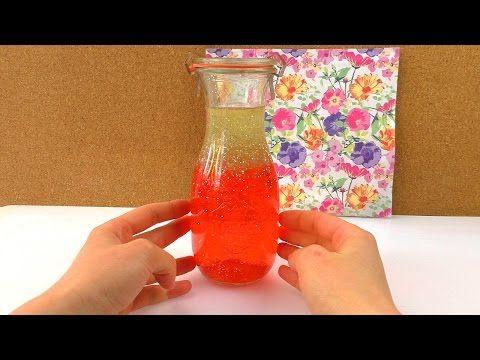 DIY Anti Stress Flasche mit Lava Effekt | Orbeez Perlen & Glitzer | Coole Schreibtisch & Geschenk - YouTube
