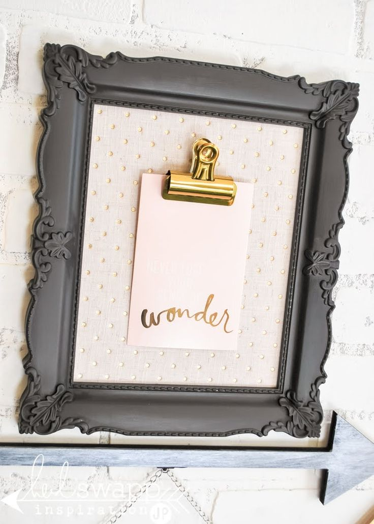 New Heidi Swapp Wall Gallery | @jamiepate for @heidiswapp  ***I'd like to make a small clipboard like in the frame, but without the frame. I've got a clip for this & a thick chipboard that would work well for this***