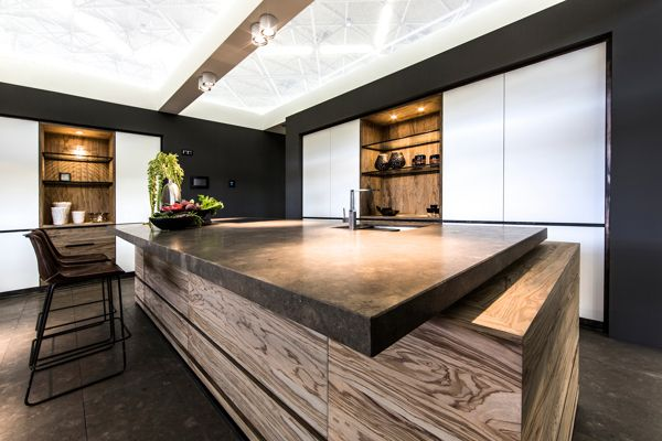 Oliva kitchen design for Tinello by Eric Kant