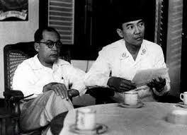 Mohammed Hatta en Soekarno (het internationale vliegveld in Jakarta is naar deze twee mannen vernoemd (Soekarno Hatta)
