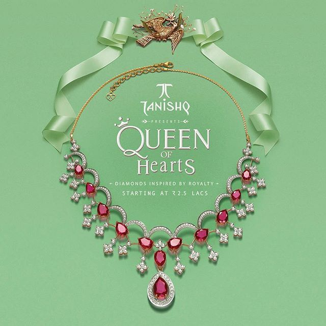 Accentuated with diamonds inspired by royalty, Tanishq presents the #QueenOfHearts collection - a range of resplendent jewellery for the woman who rules everyone's heart.  To know more, call 1800-258-2598 (toll-free) or give a missed call on 087330-87330. To book an appointment, visit our website (link in bio).