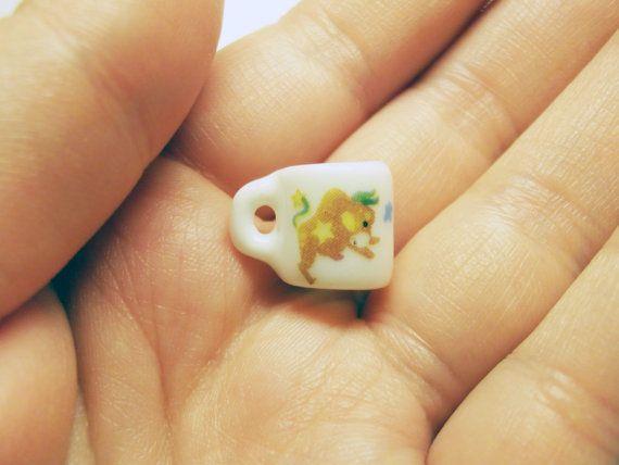 taurus horoscope miniature porcelain mug by rabbitssupplies