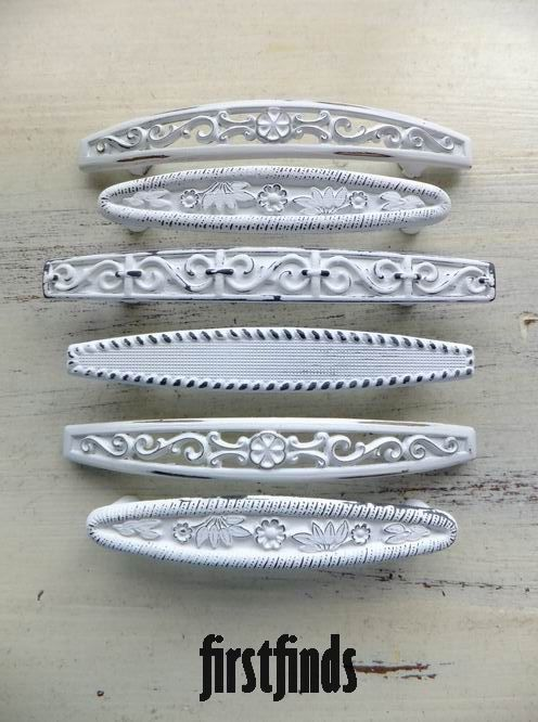 6 Misfit Filigree Handles Distressed Vintage Shabby Chic Furniture Drawer Dresser  Cabinet Hardware Metal Pulls Cupboard