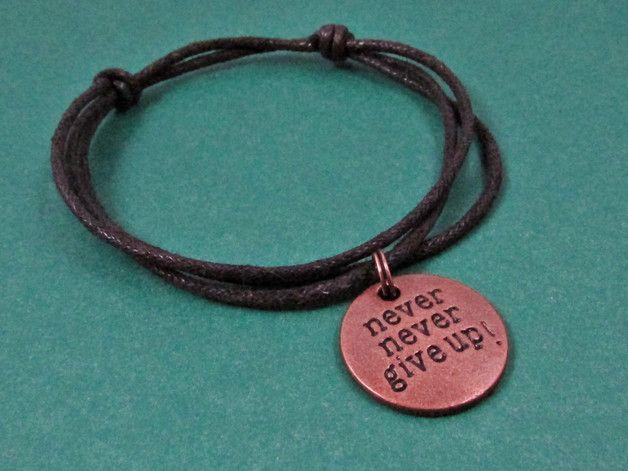 sznurkowa bransoletka czarna - KaroAnnA - Bransoletki z zawieszkami