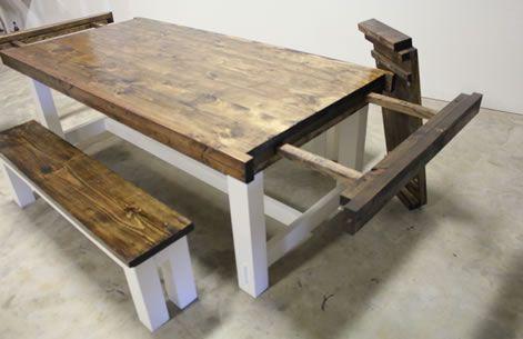 James James Expandable Farmhouse Table Pinittowinit