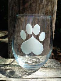 paw print wine glass HART Wine Glass