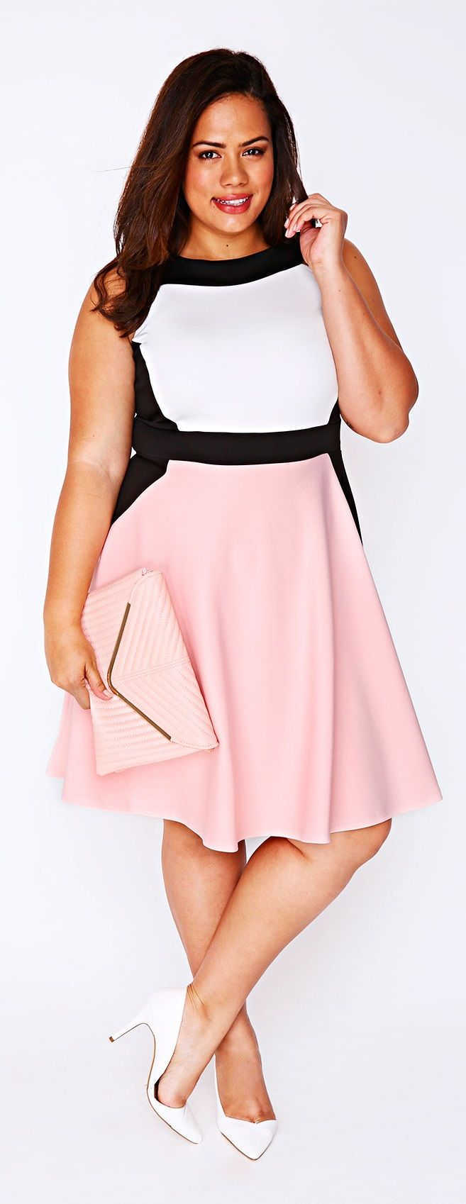 Plus Size Color Block Skater Dress                                                                                                                                                                                 More  Explore our amazing collection of plus size fashion styles and clothing. http://wholesaleplussize.clothing/