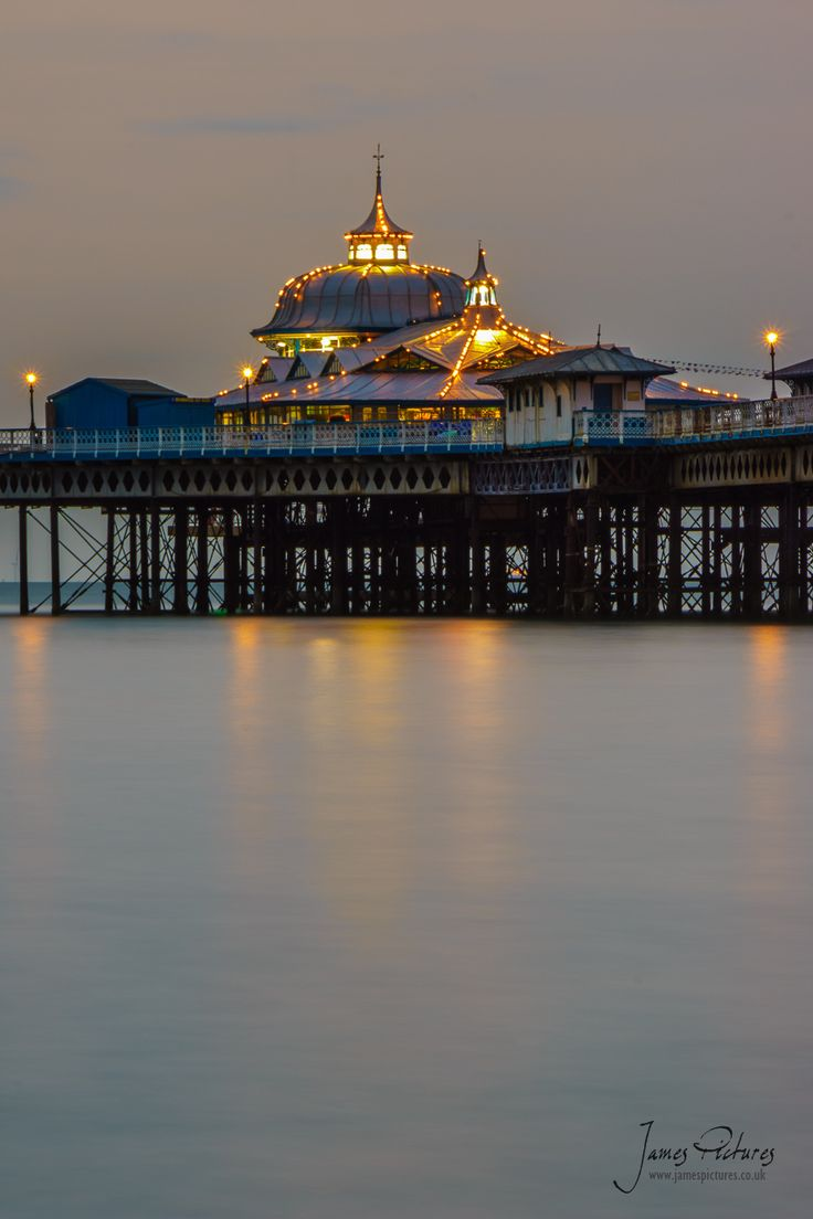 Twilight - Llandudno Pier, North Wales. Just the place for cuddles after a nice evening meal.
