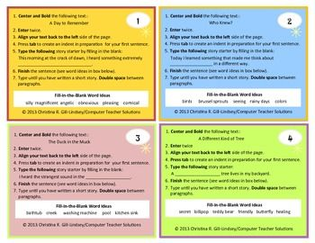 16 best images about Microsoft Word Activities on Pinterest ...