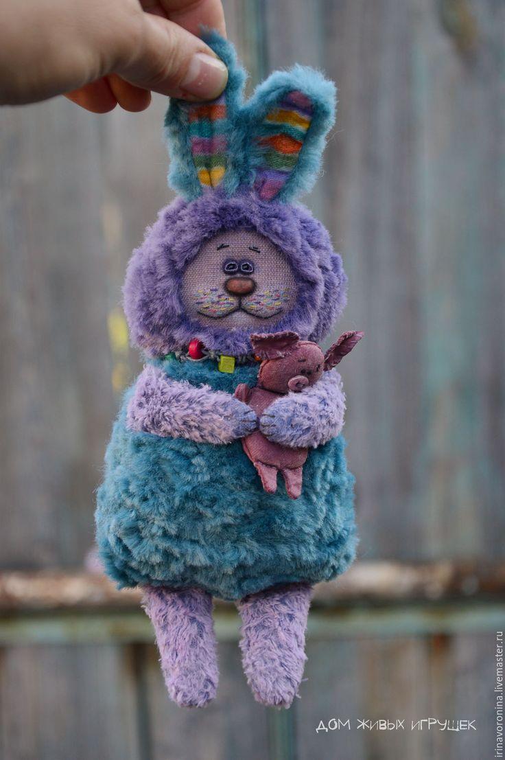 just a Rabbit... - тёмно-бирюзовый, фиолетовый цвет, бирюзовый цвет, зайка