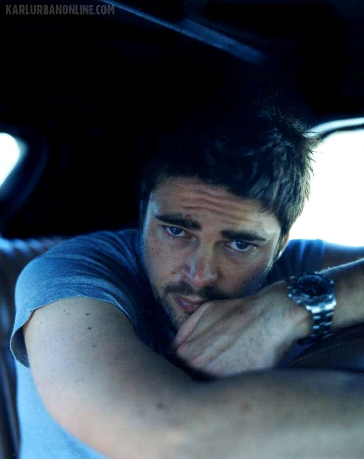 Karl Urban. Yeah, never wanted to be a front passenger carseat so much in my life.