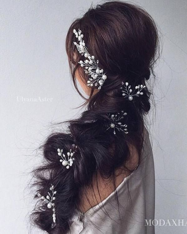 Ulyana Aster Long Bridal Hairstyles for Wedding_22 ❤ See More: http://www.deerpearlflowers.com/long-wedding-hairstyleswe-absolutely-adore/