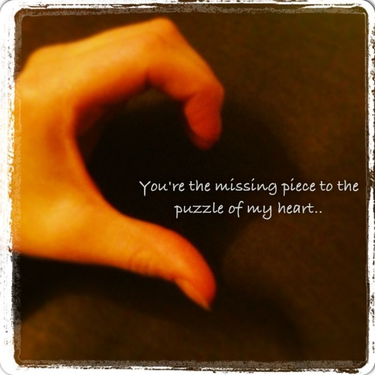 Missing Puzzle Piece Quote: Missing Piece