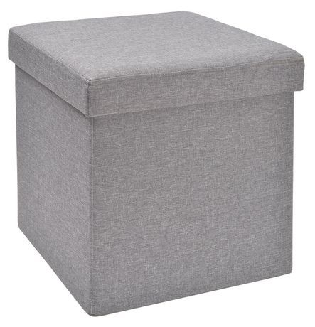 "Grey Collapsible Storage Cube  Dimension: 15"" x 15"" x 15""  By hometrends  Walmart"